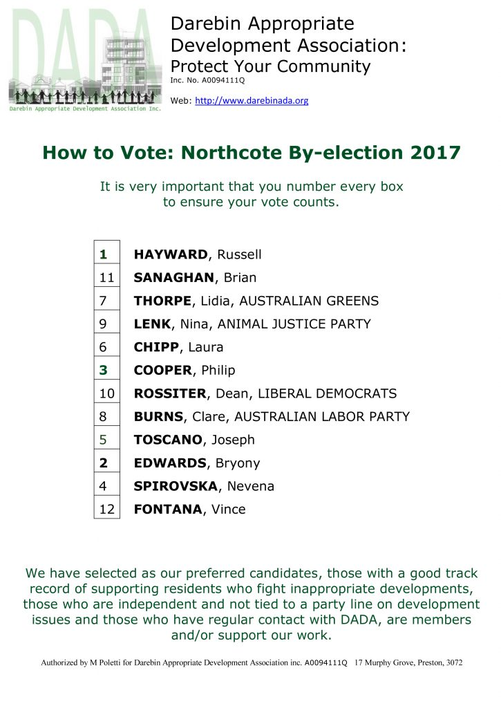 Northcote by-election 2017: How to Vote